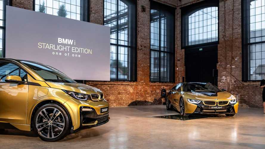 BMW Reveals i3 & i8 Starlight 24-Carat Gold Dust Special Edition