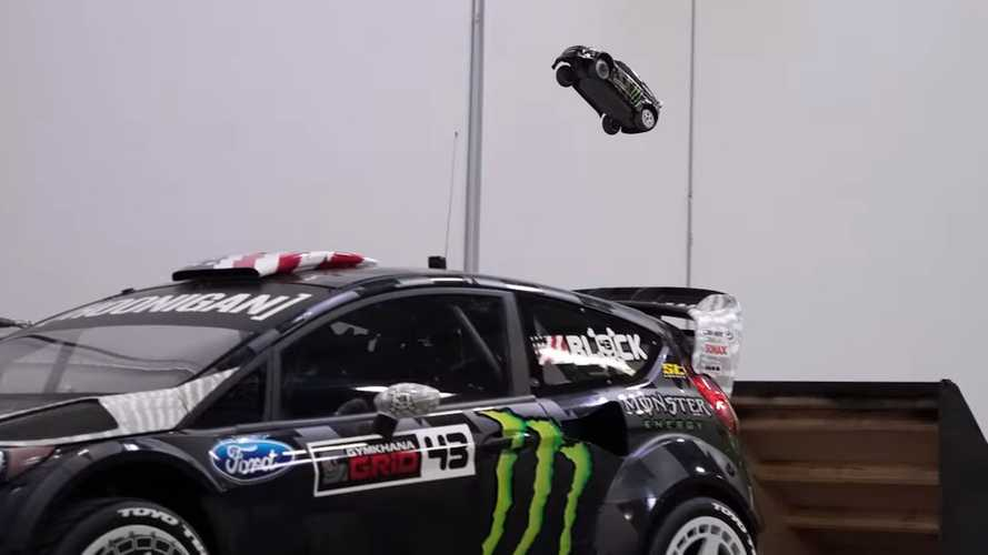 Watch Ken Block shred his RC cars around his real cars