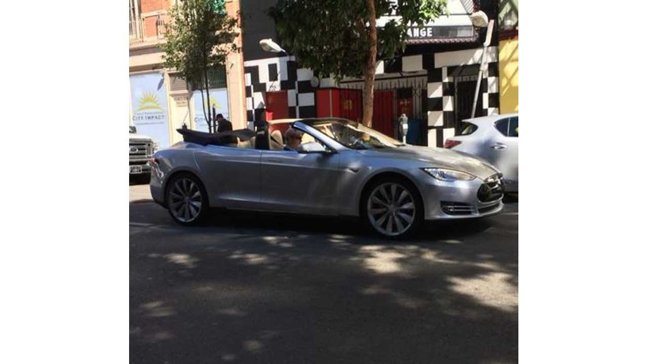 Spotted: Tesla Model S Convertible