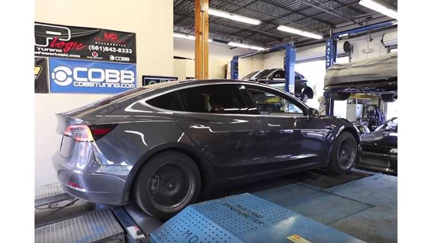 Watch DragTimes Dyno Tesla Model 3