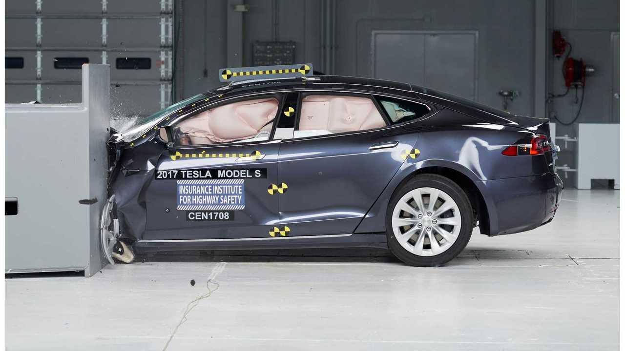 Tesla Model S IIHS crash test