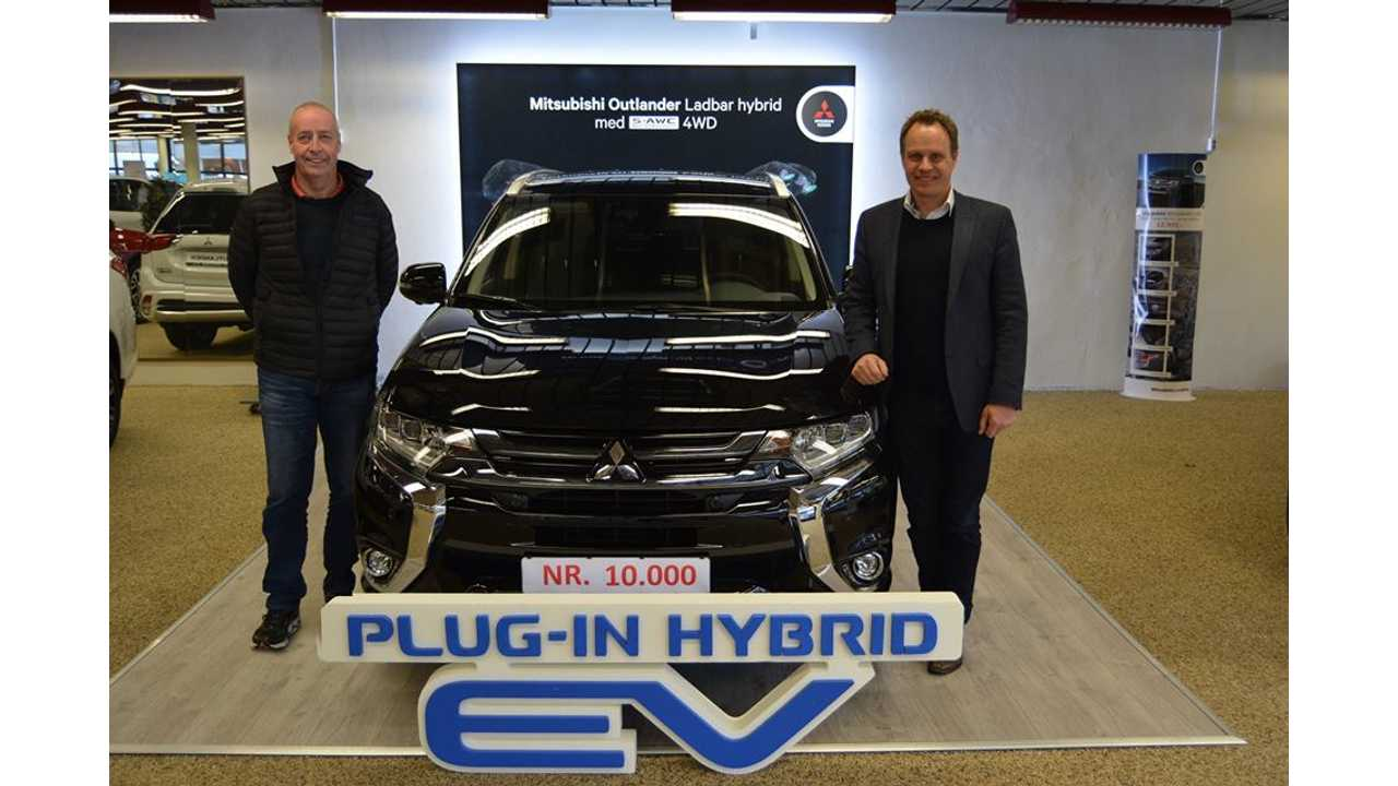 Mitsubishi Has Sold Its 10,000th Outlander PHEV in Norway