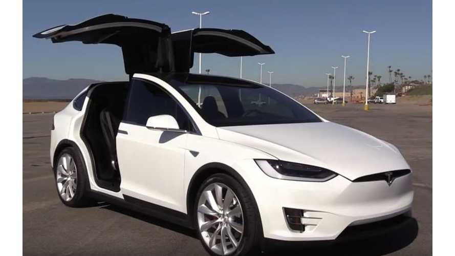 Tesla Model X P100DL Out Accelerates A Lamborghini