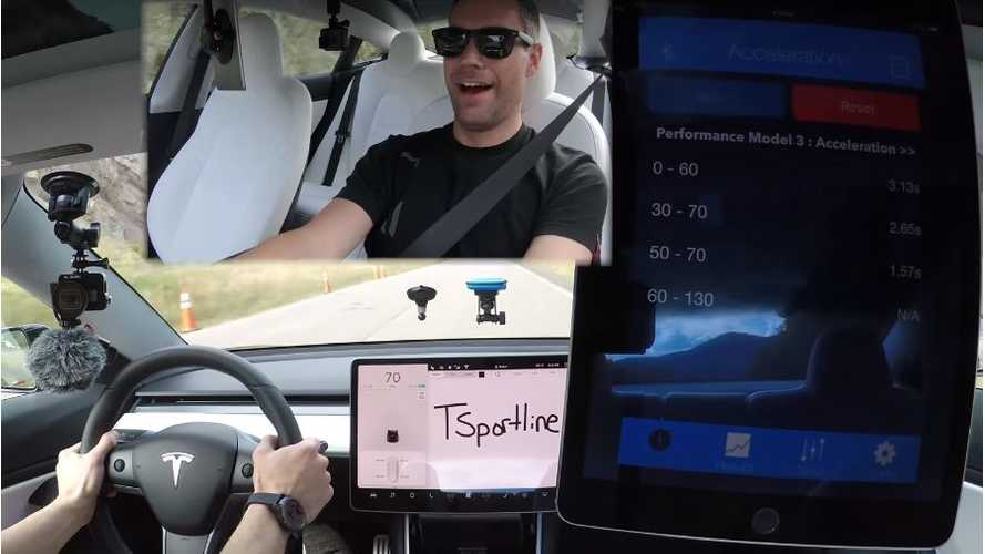 Tesla Model 3 Performance Hits 60 MPH In Record-Setting 3.13 Seconds