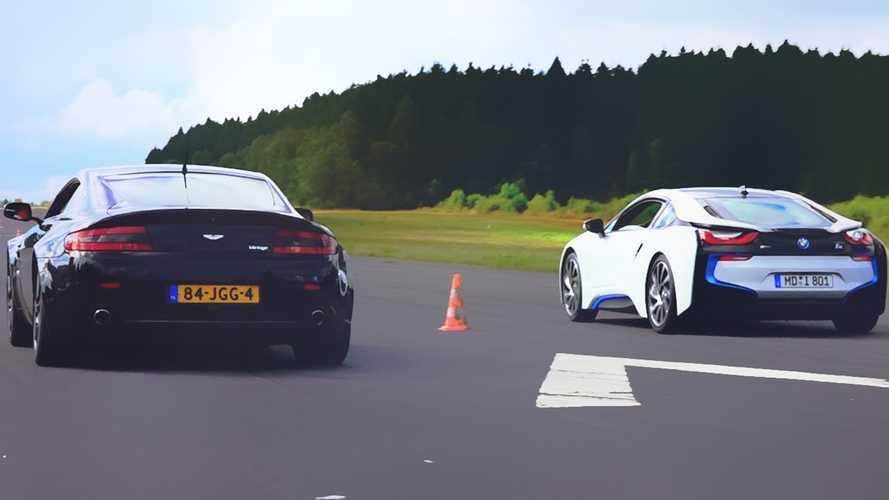 BMW i8 Versus Aston Martin Vantage - Drag Race Video