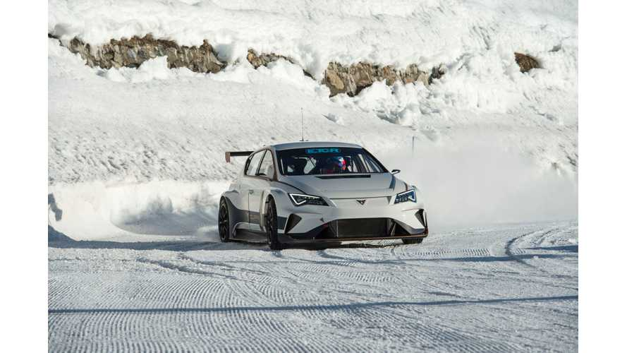 Cupra Adapts e-Racer Plug-In Hybrid For Winter Assault: Video