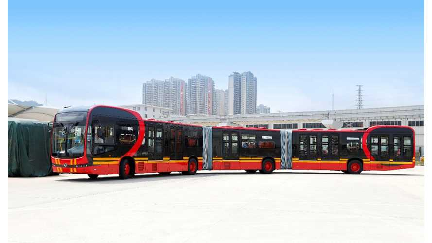 BYD Introduces K12A 88-Foot, Bi-Articulating Electric Bus