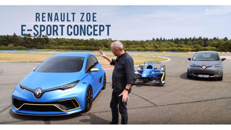 Renault ZOE e-Sport Driven In France - Fully Charged Test Drive Video