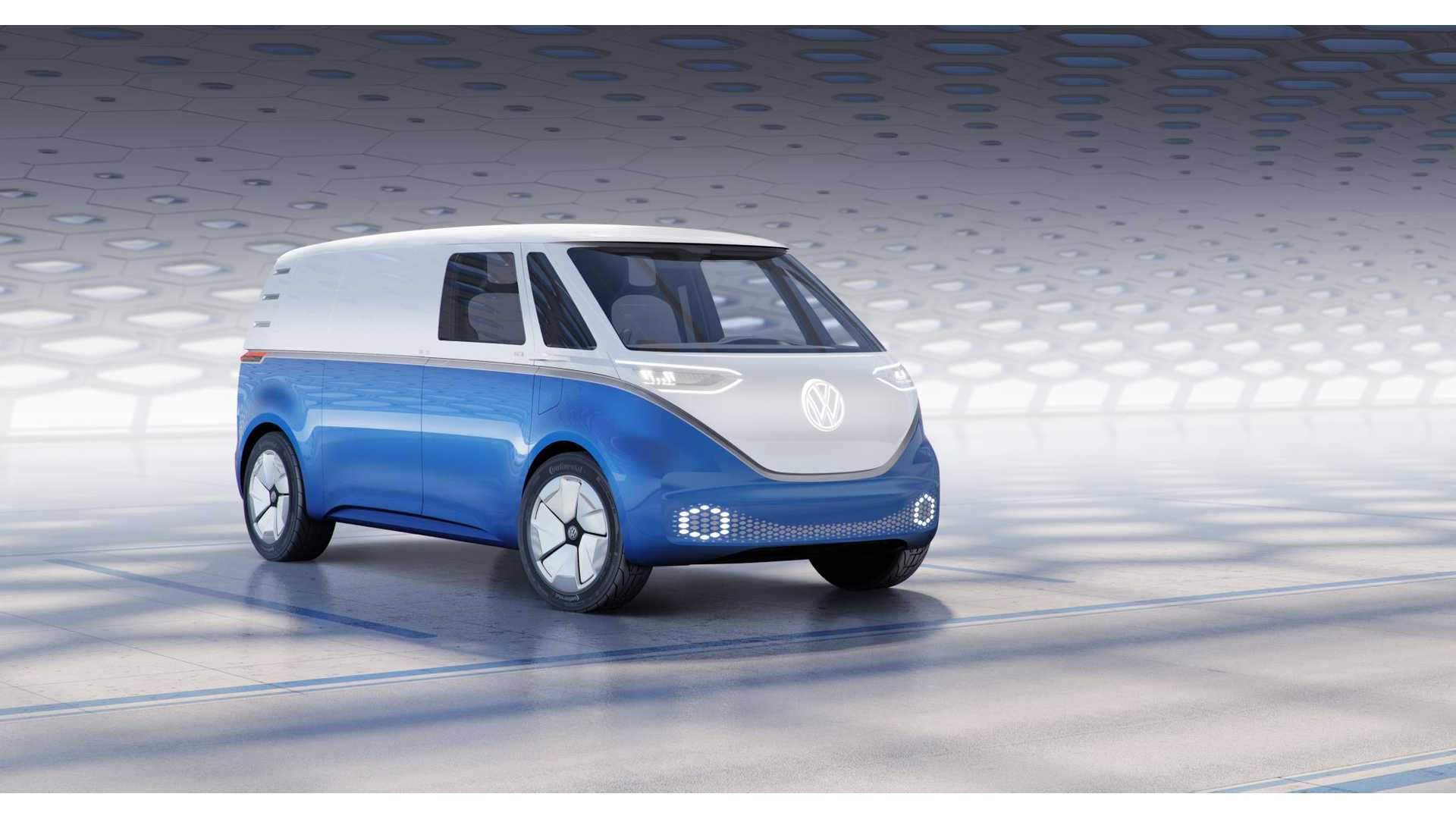 2f70fa2d40 Volkswagen Reveals I.D. BUZZ CARGO Electric Van With 111-kWh Battery