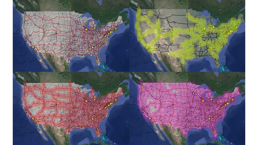 DoE Maps Out 4 Possible Charging Station Scenarios For U.S.