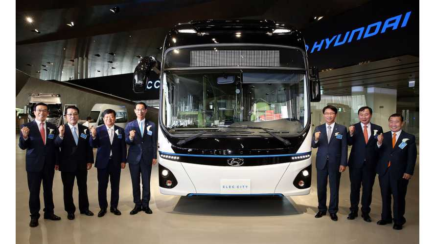 Hyundai Unveils Elec City Electric Bus With 180 Miles Range