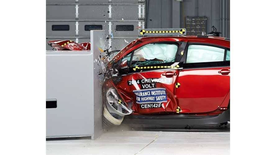 2015 Volt Among 4 Chevrolet Models To Receive IIHS Top Safety Pick