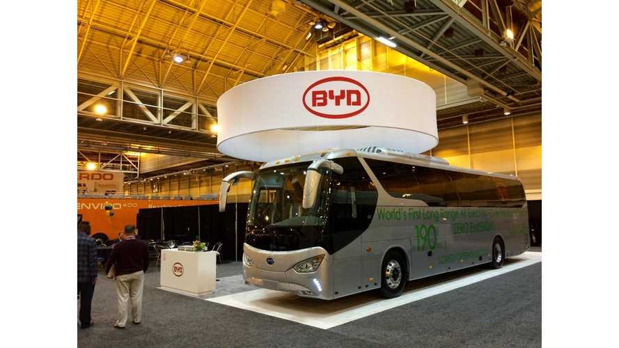 BYD Unveils World's First Long-Range Electric Coach Bus