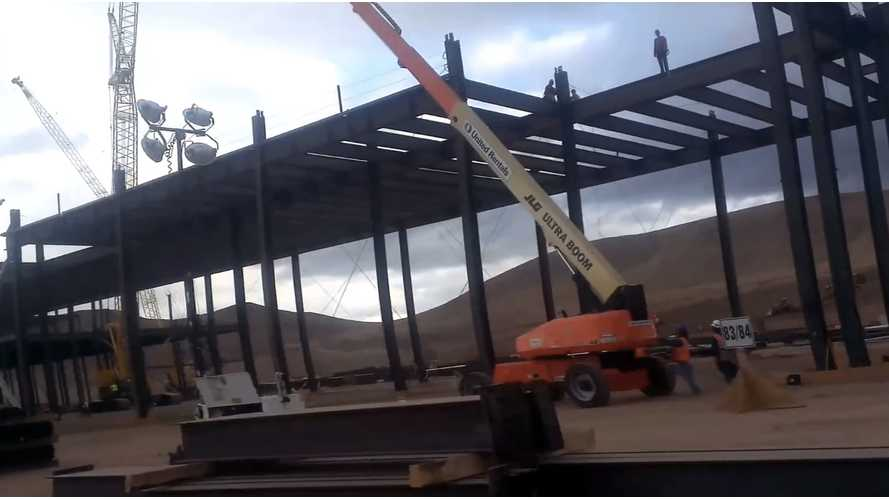 On-The-Scene Video Of Tesla Gigafactory Under Construction