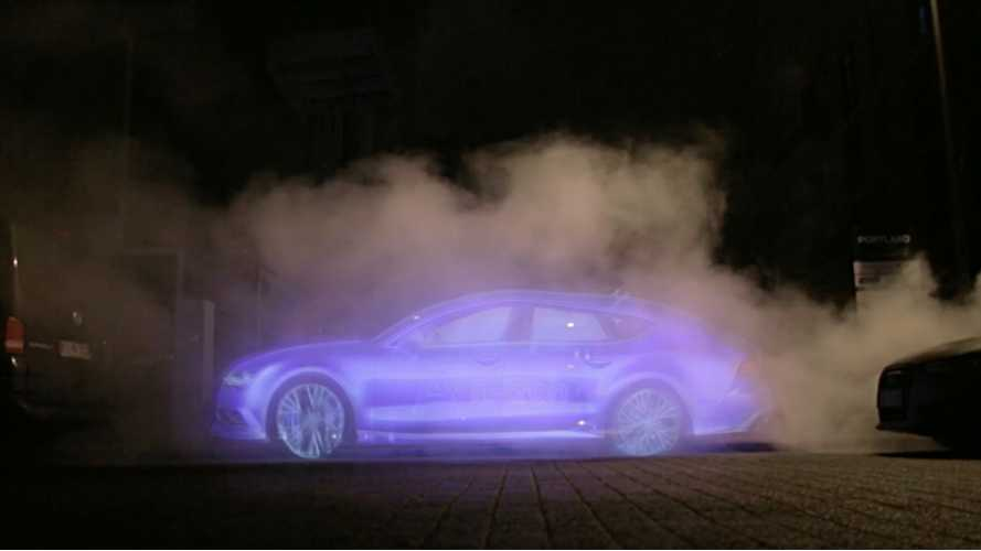 Audi A7 Sportback h-tron Billboard Emits Only Water Vapor - Video