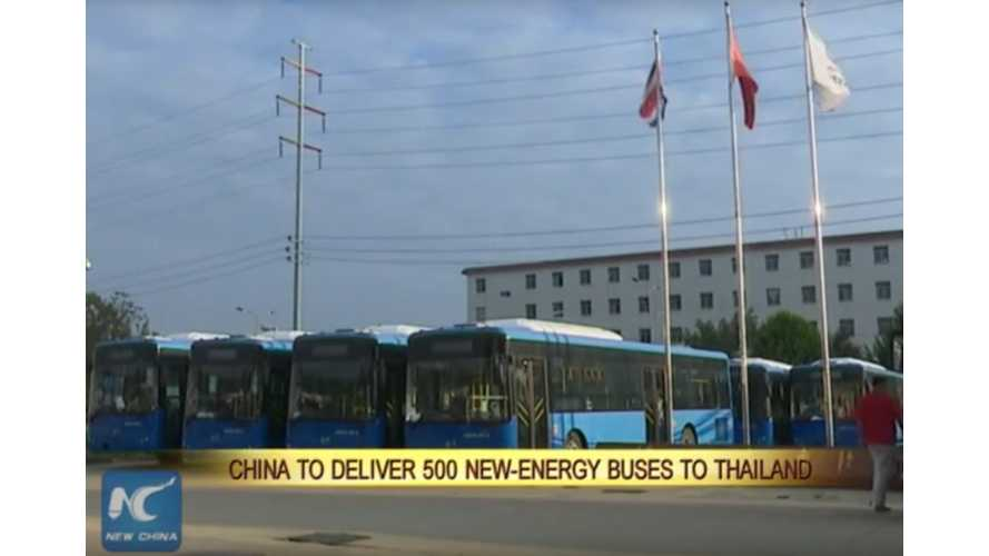 Chinese Company To Export 500 New Energy Buses To Thailand
