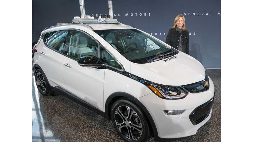 """There Will Be """"Thousands"""" of Self-Driving Chevrolet Bolt EVs in 2018"""