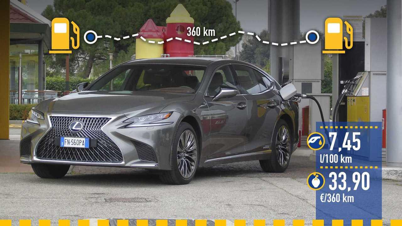 Prueba de consumo Lexus LS 500h