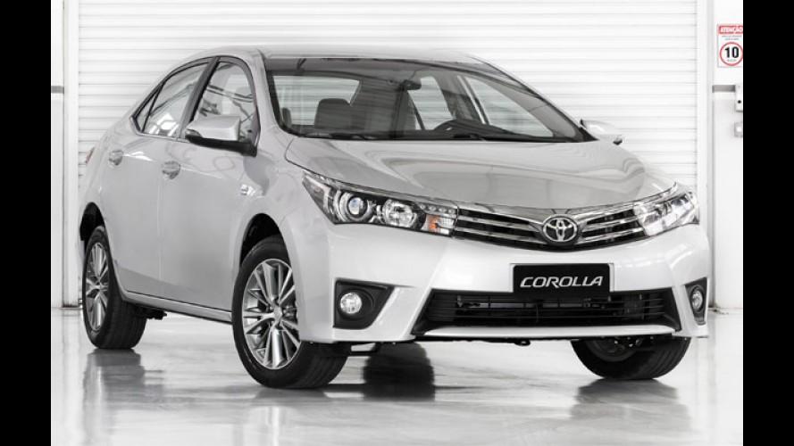 Imbatível: Corolla vende mais do que Civic, Sentra e Jetta juntos em junho
