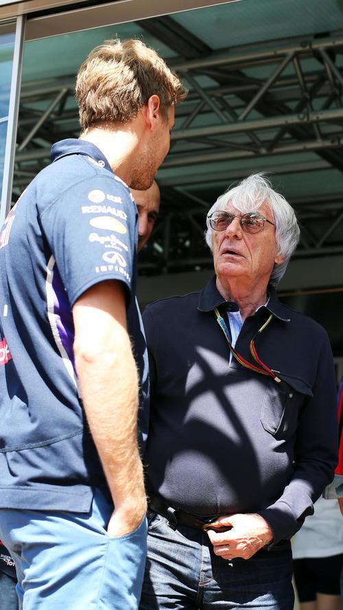 Vettel could chase 'fast car' to Ferrari - Ecclestone