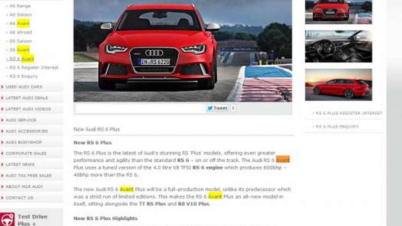 Audi RS6 Avant Plus listing