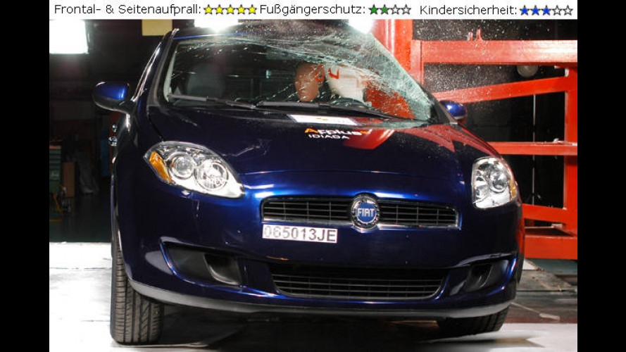 EuroNCAP-Crash-Test: Fiat, Toyota, Honda und Mitsubishi im Test