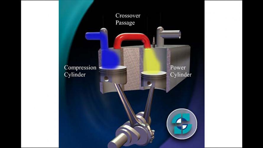 Verbrauch halbiert: Der Druckluft-Hybridantrieb von Scuderi