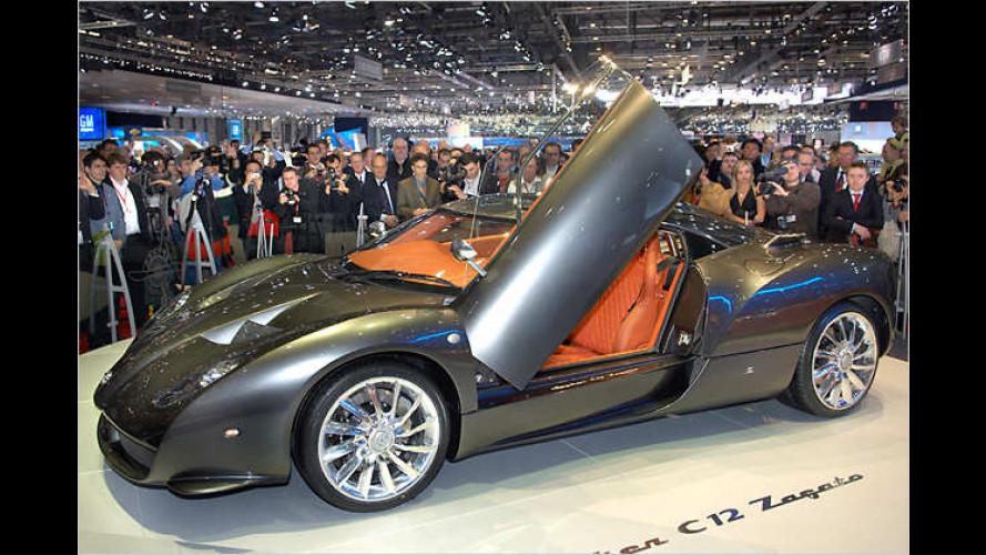 Spyker C12 Zagato in Genf: Limitierter Traum vom Fliegen