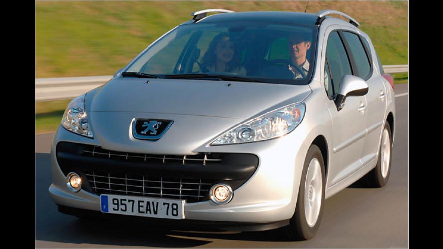 Peugeot 207 SW: Kleiner Löwe reißt die Klappe weit auf