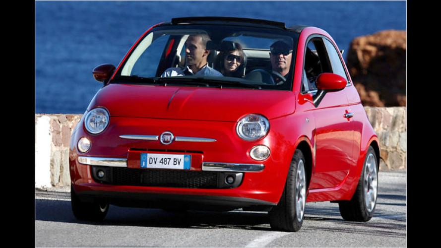 Sommerauto mit Nostalgie-Touch: Offener Fiat 500C