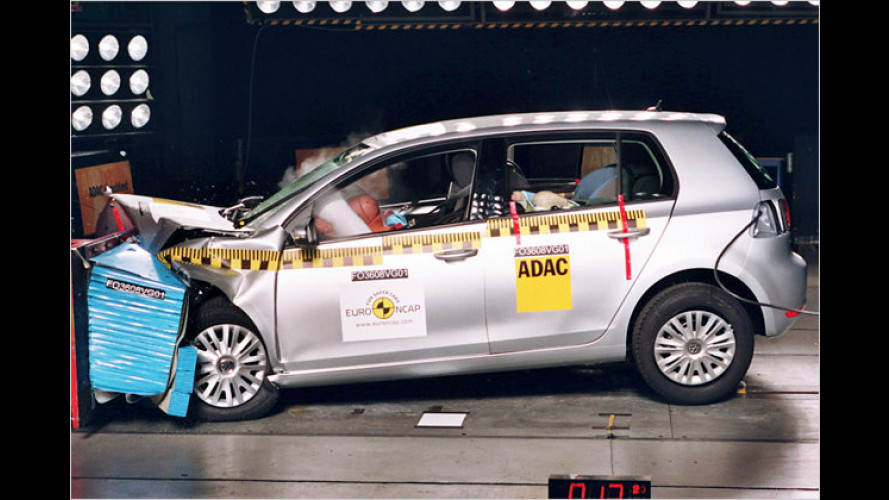 Euro-NCAP-Crashtests 2009: VW Golf VI der sicherste