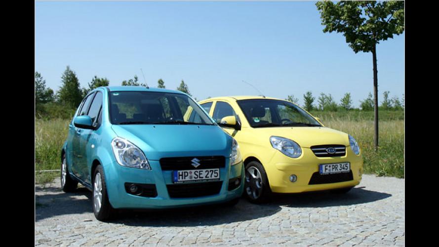 Suzuki Splash und Kia Picanto im Vergleichstest (2008)