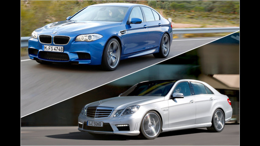 Vergleich: BMW M5 gegen Mercedes E 63 AMG