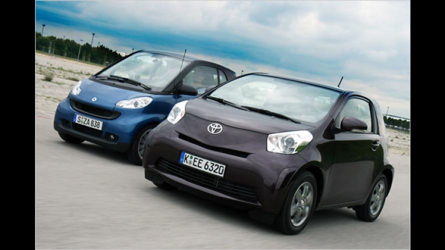 Duell Der Beiden Kleinsten Smart Fortwo Gegen Toyota Iq