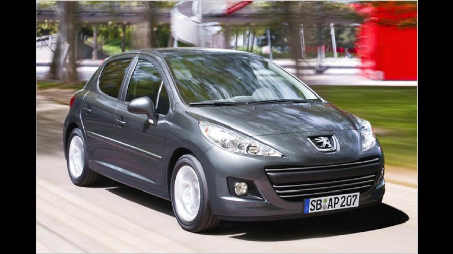 Peugeot 207: Programm-Straffung