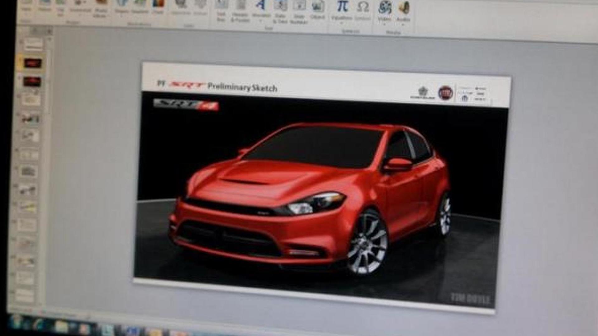 Dodge Dart Srt4 >> 2014 Dodge Dart Srt4 Preliminary Sketch Leaked