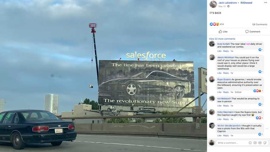 There's A Charming Reason This Toyota Supra Billboard Has Survived 27 Years