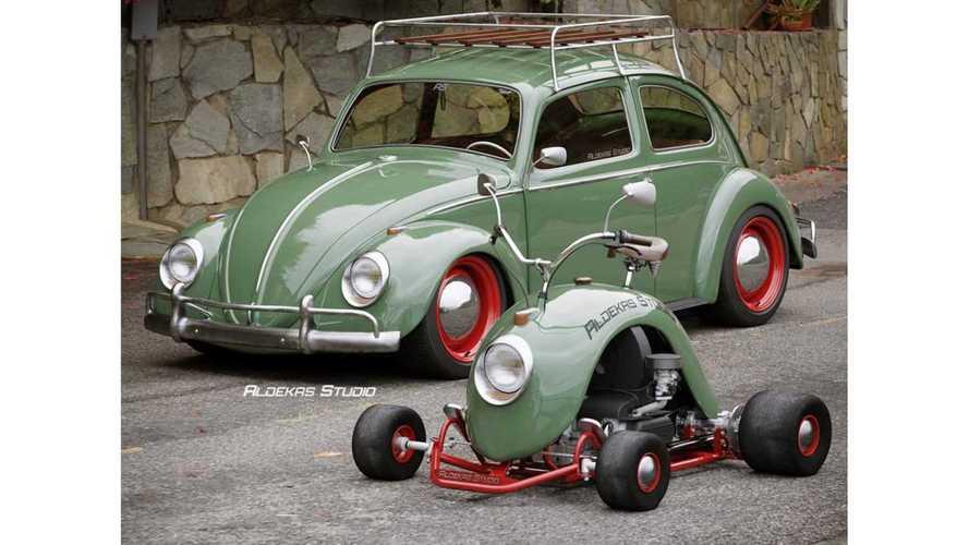 Así es el Volkswagen Beetle original transformado en un kart
