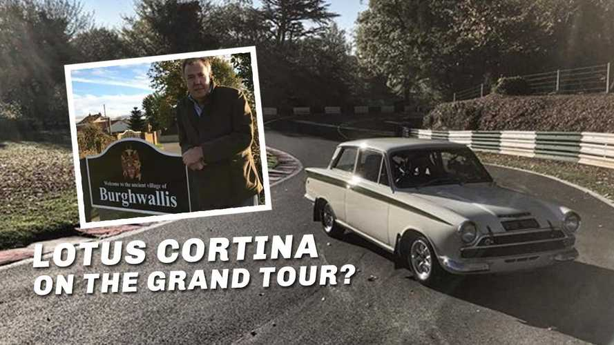 Is  Clarkson filming retro Grand Tour piece on the Lotus Cortina?