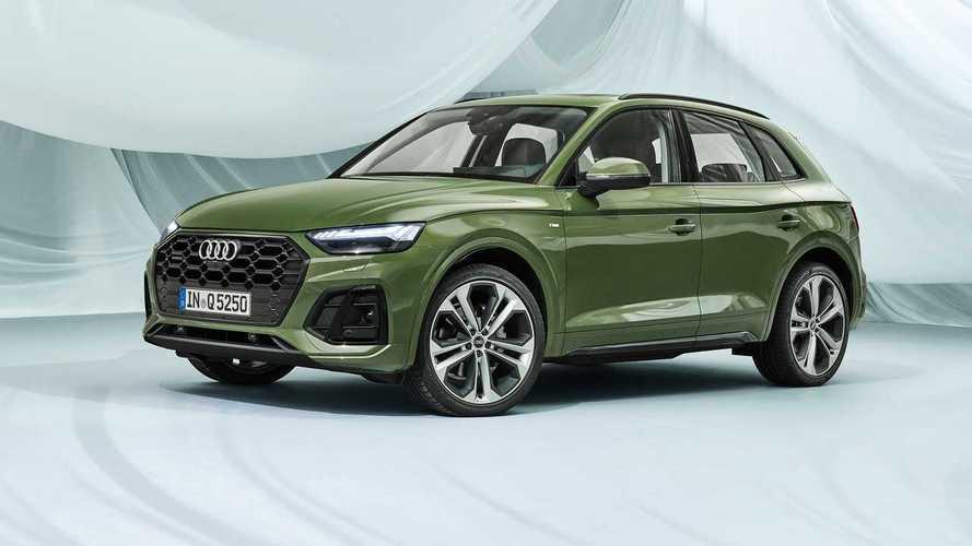 Audi Q5 Facelift (2020) bietet Rückleuchten mit vier verschiedenen Designs