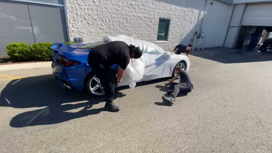 Watch This 2020 Corvette Get Unwrapped Like A Big Birthday Present