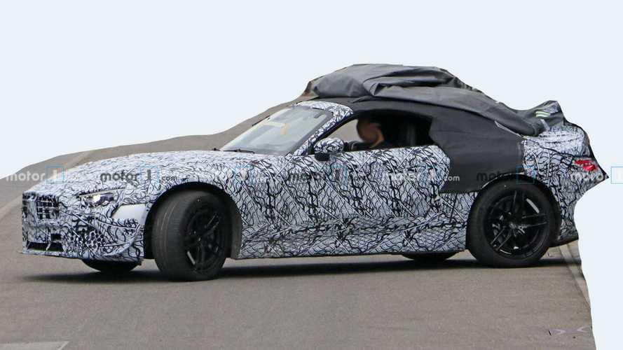2021 Mercedes SL Serisi Yeni Casus Fotoğraflar