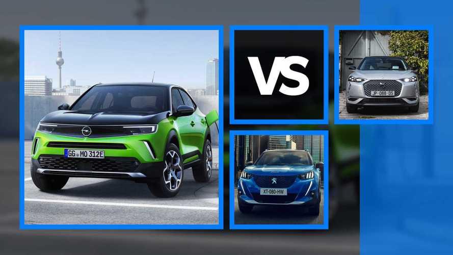 Opel Mokka vs Peugeot 2008 vs DS 3 Crossback, SUV piccoli a confronto