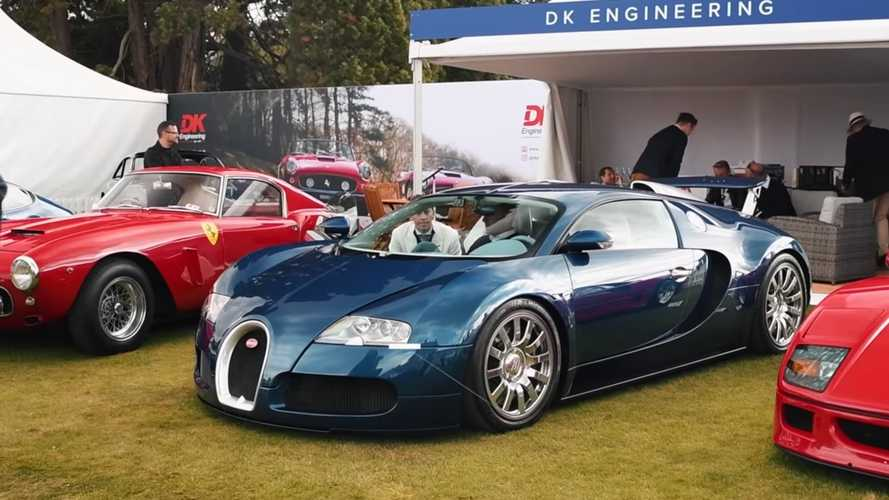 Watch Bugatti Veyron Get A Special Application Of Ferrari Paint