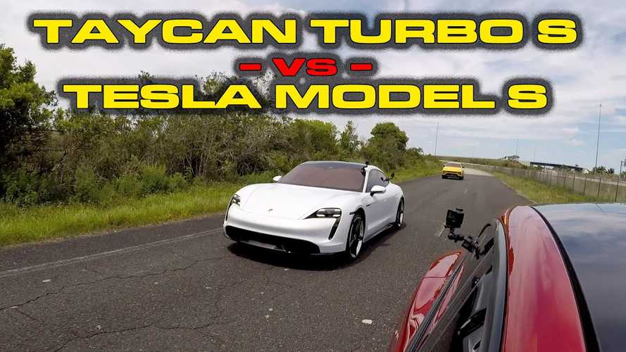 Watch Tesla Model S Performance 'Cheetah' Vs Porsche Taycan Turbo S