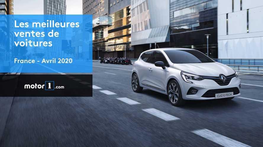 VIDÉO - Les 10 voitures les plus vendues en France en avril 2020