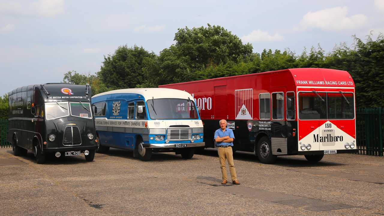 The man with three classic race transporters (and more to come)
