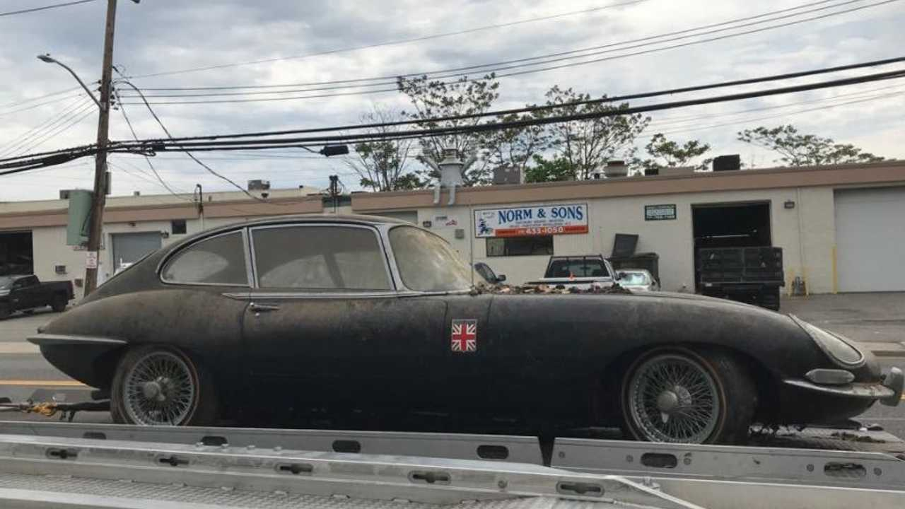 Is this the ultimate Jaguar E-type barn find?