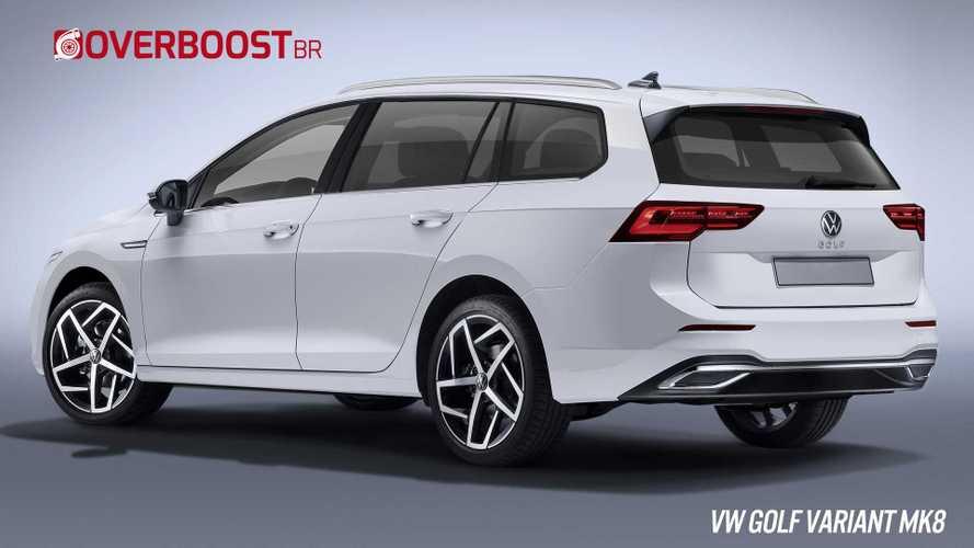 Projeção: Nova Volkswagen Golf Variant pode ficar assim