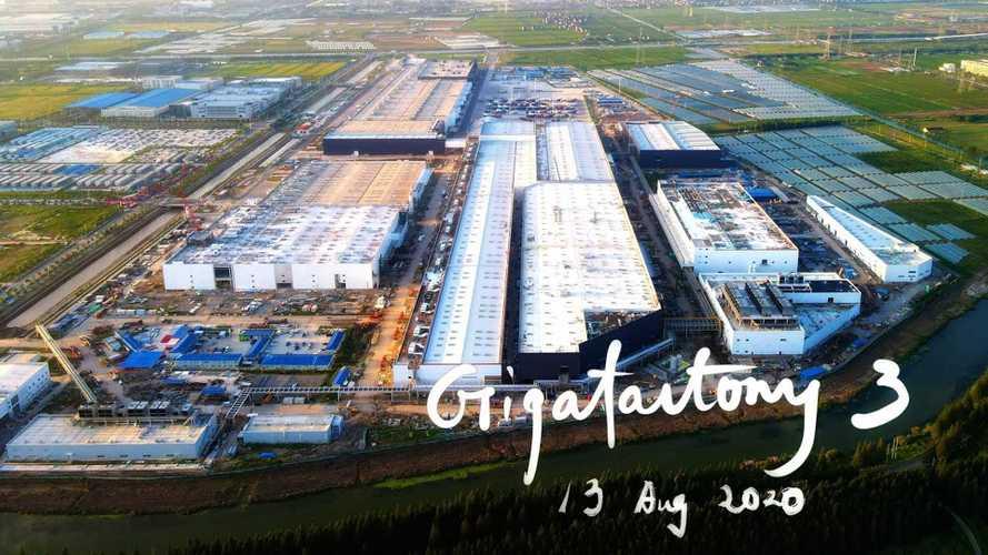 Tesla Giga Shanghai Construction Progress August 13, 2020: Video